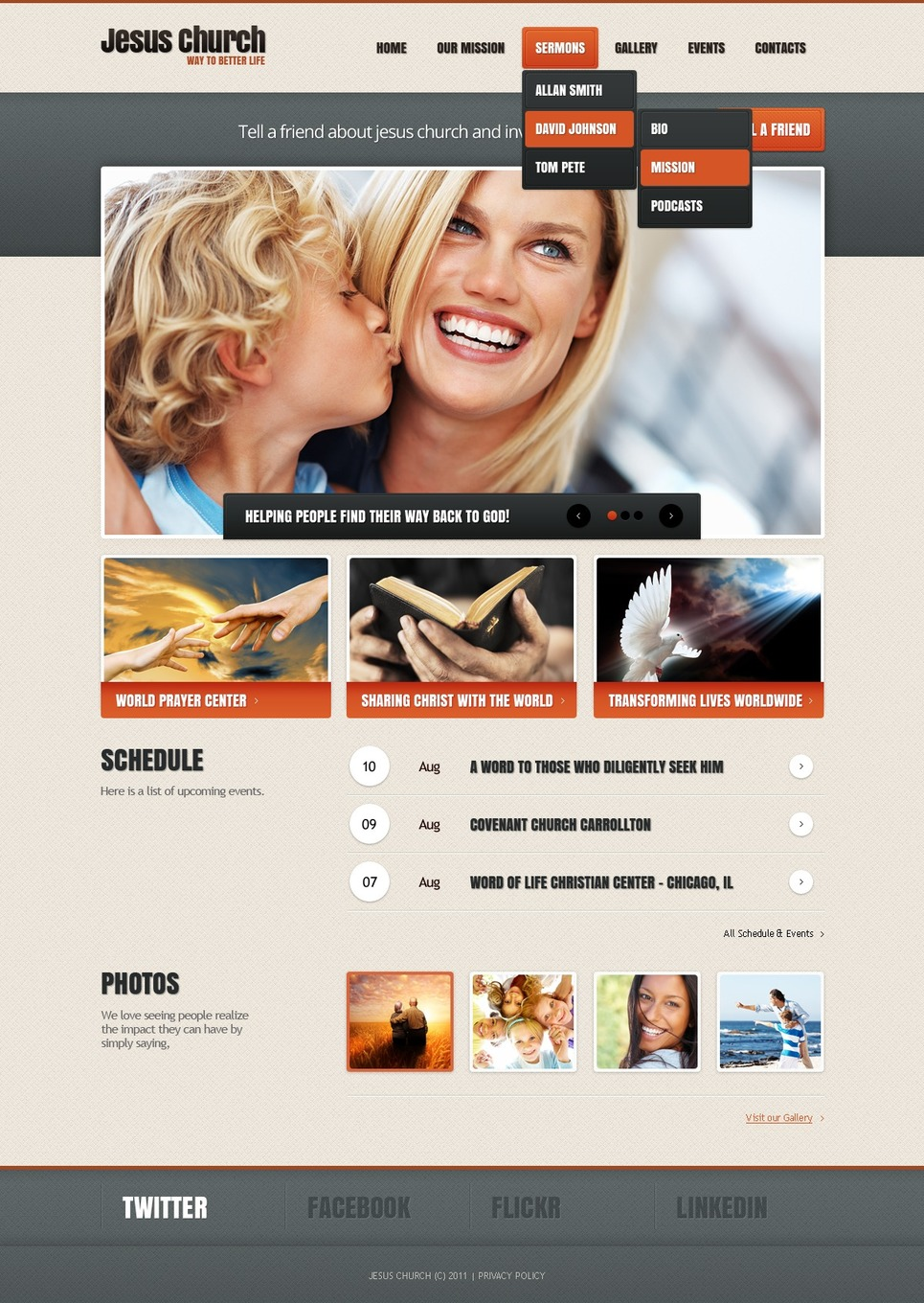 Christian WordPress Theme New Screenshots BIG