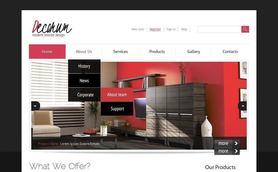 Interior Design Joomla Template New Screenshots BIG