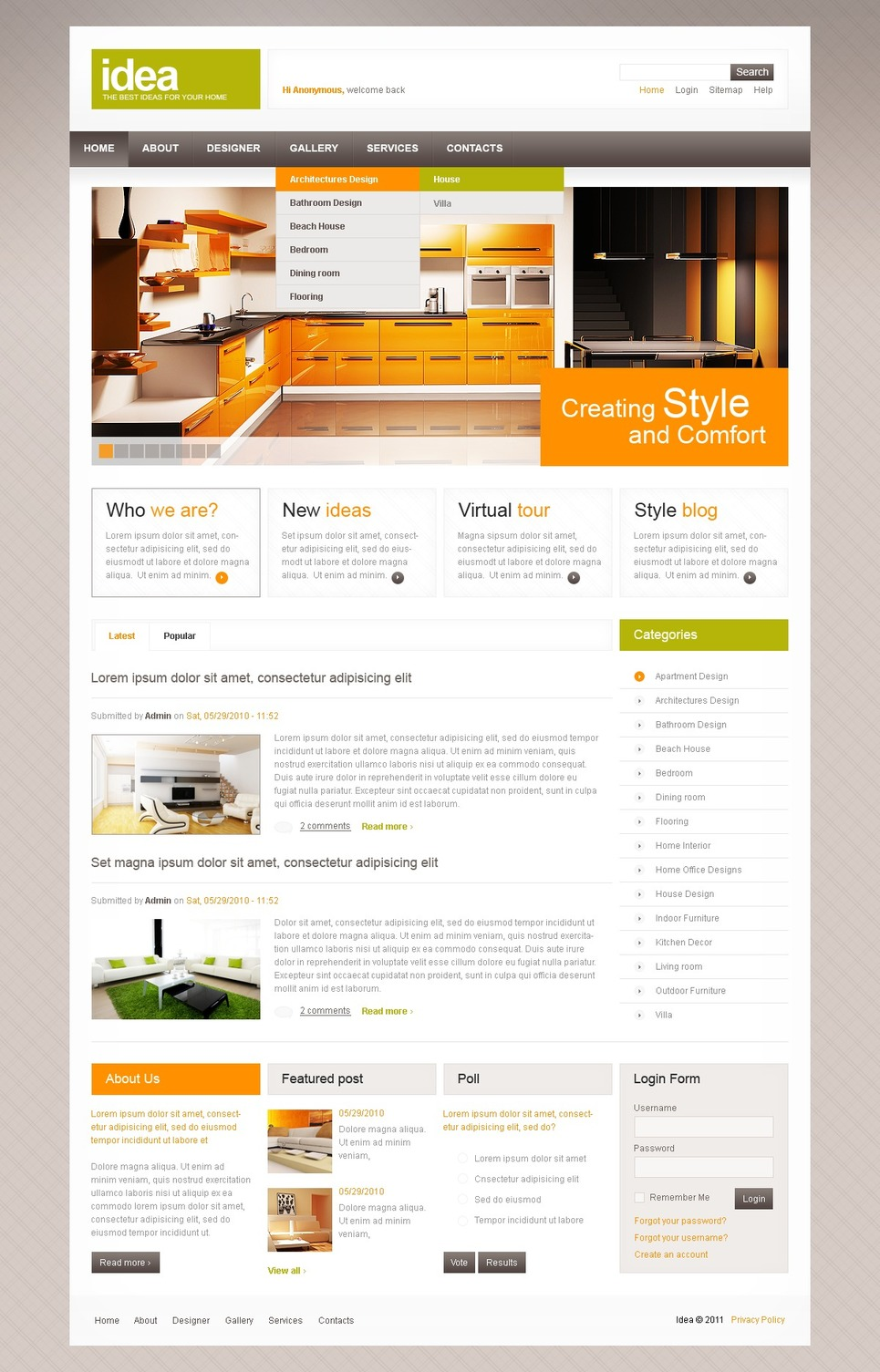 Interior Design Drupal Template New Screenshots BIG