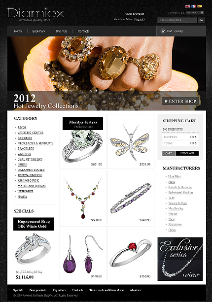 Diamiex - Radiant Online Jewellery Store PrestaShop Theme