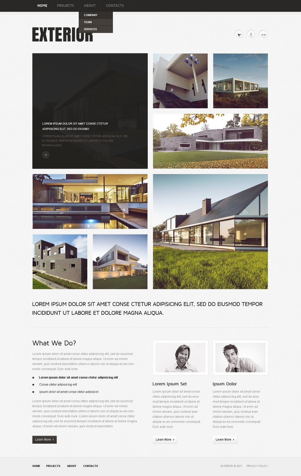 Exterior Design Website Template New Screenshots BIG