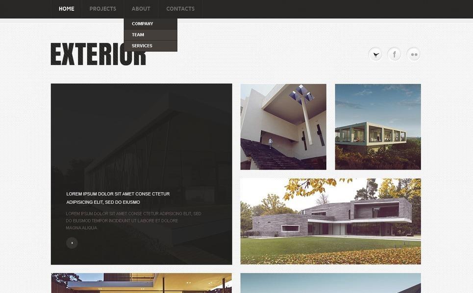 Exterior design website template 36198 for Exterior design templates