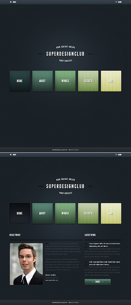 Full Js Animated Template (js-site. Html5)