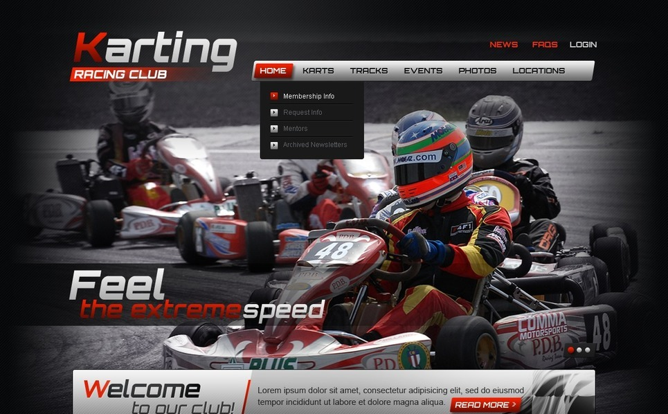 Karting Website Template New Screenshots BIG