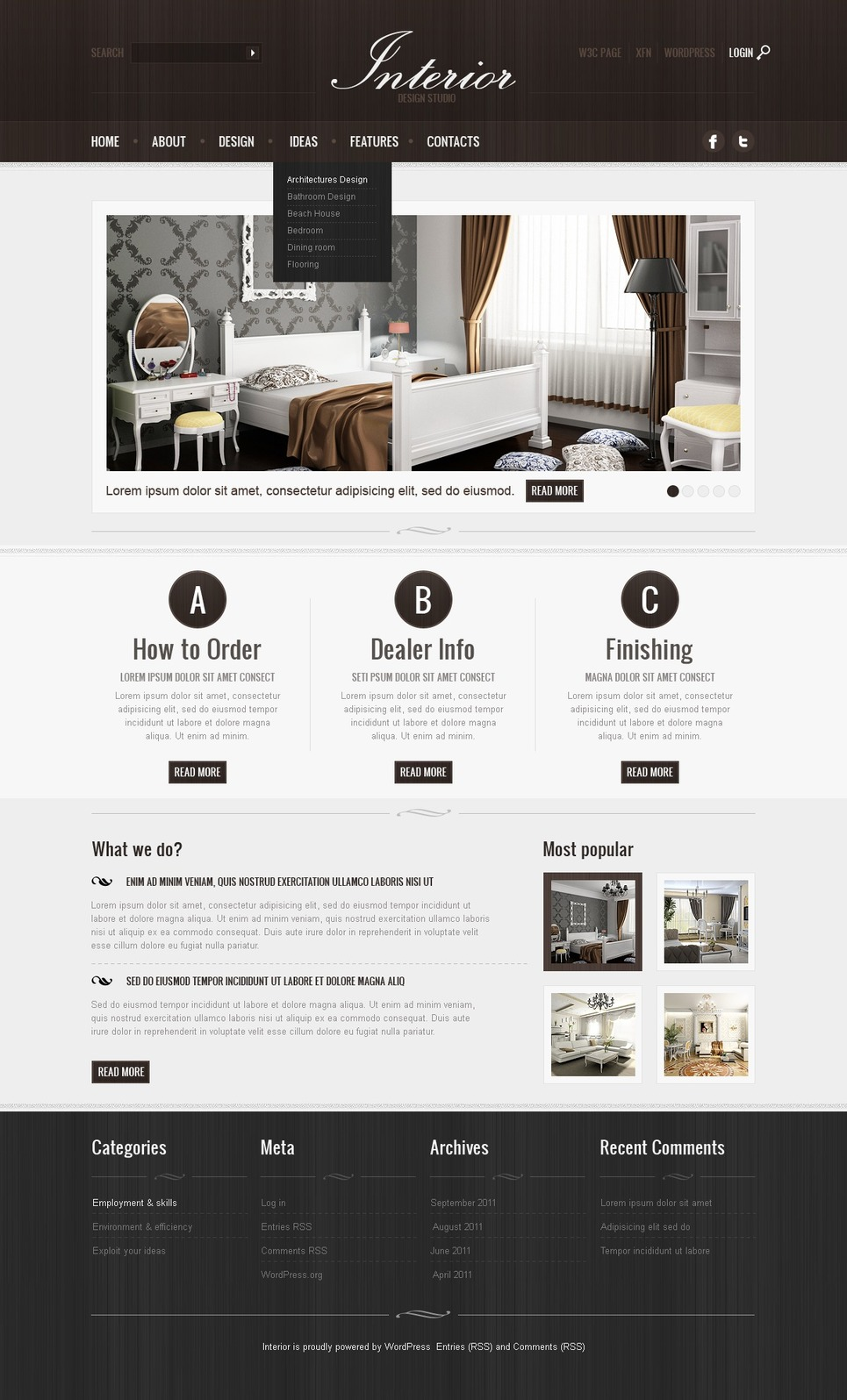 Interior Design WordPress Theme New Screenshots BIG