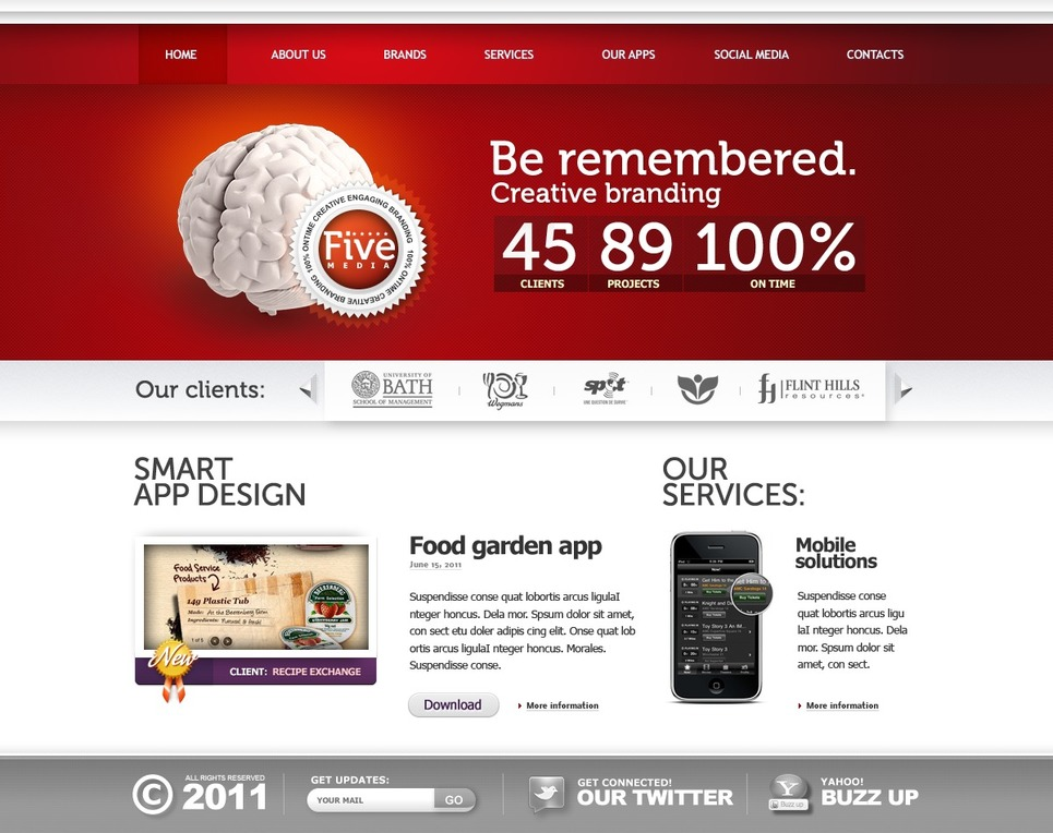 Marketing Agency Flash Template New Screenshots BIG