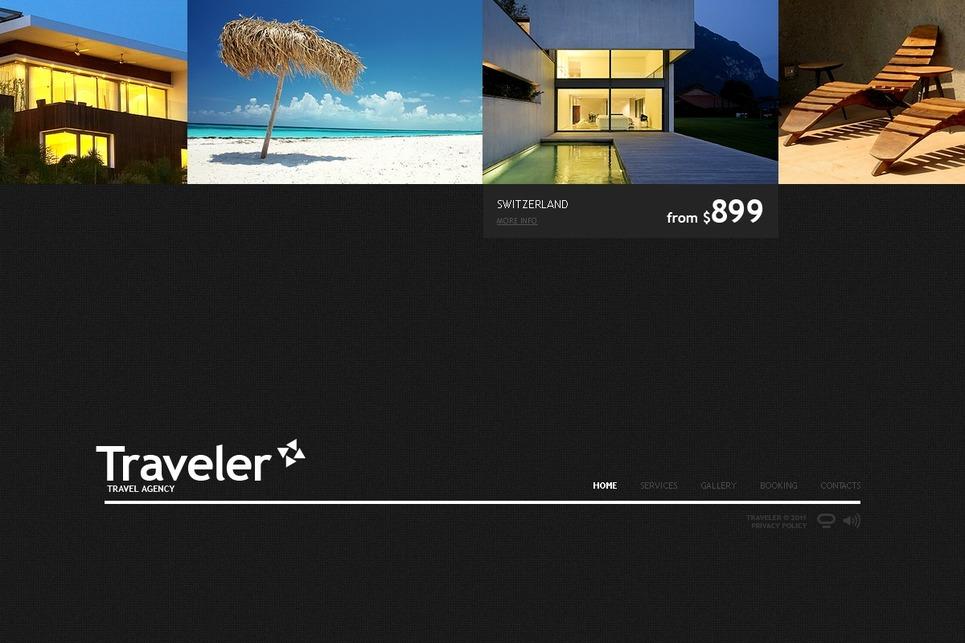 Travel Agency Flash CMS Template New Screenshots BIG