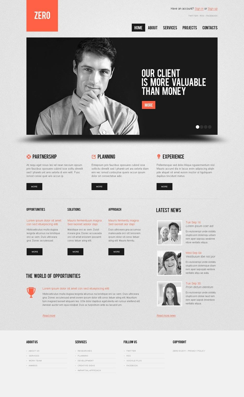 Investment Company WordPress Theme New Screenshots BIG