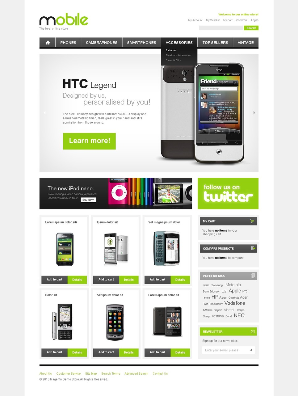 Best Mobile Store Magento Theme