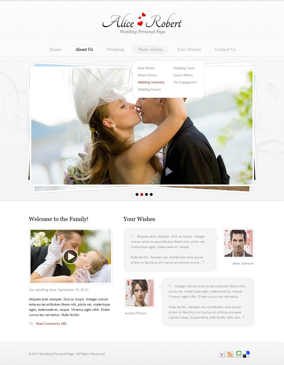 Wedding Website Template New Screenshots BIG