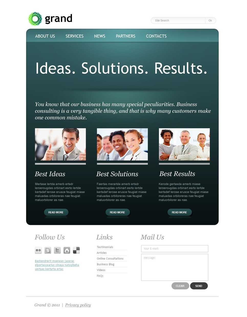 Consulting website template 36368 for Consulting website