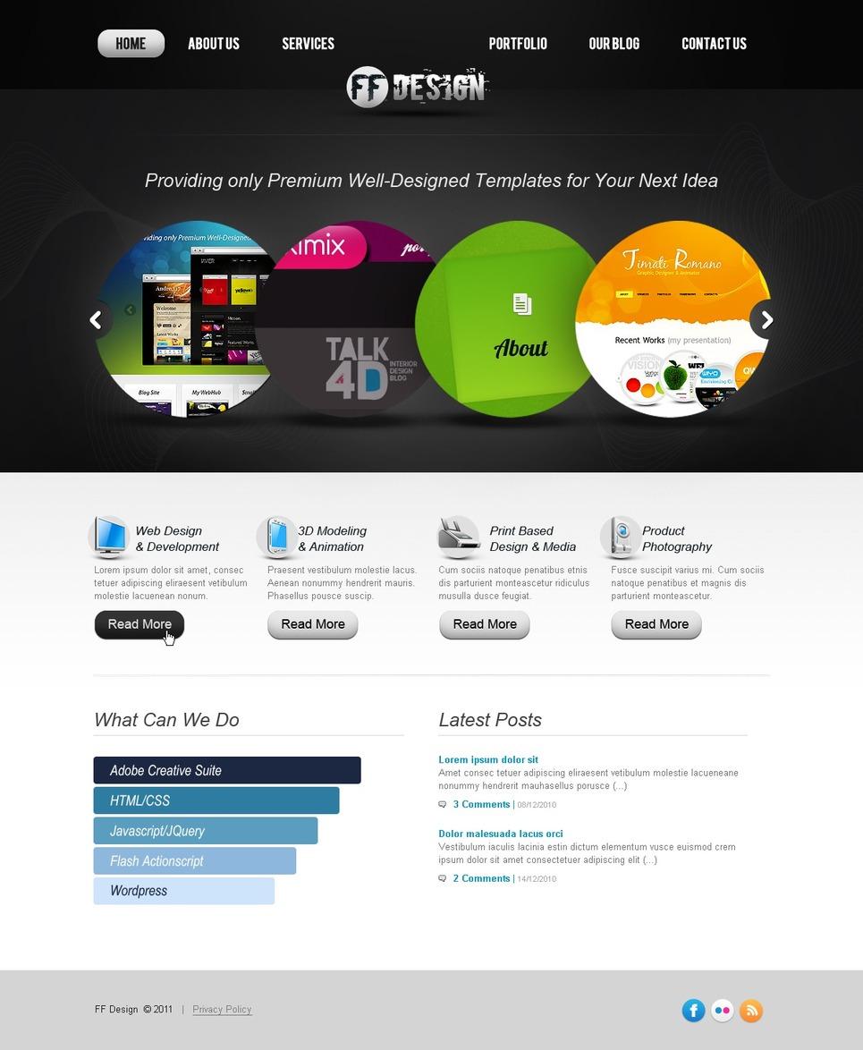Web design website template 36376 for At home web design