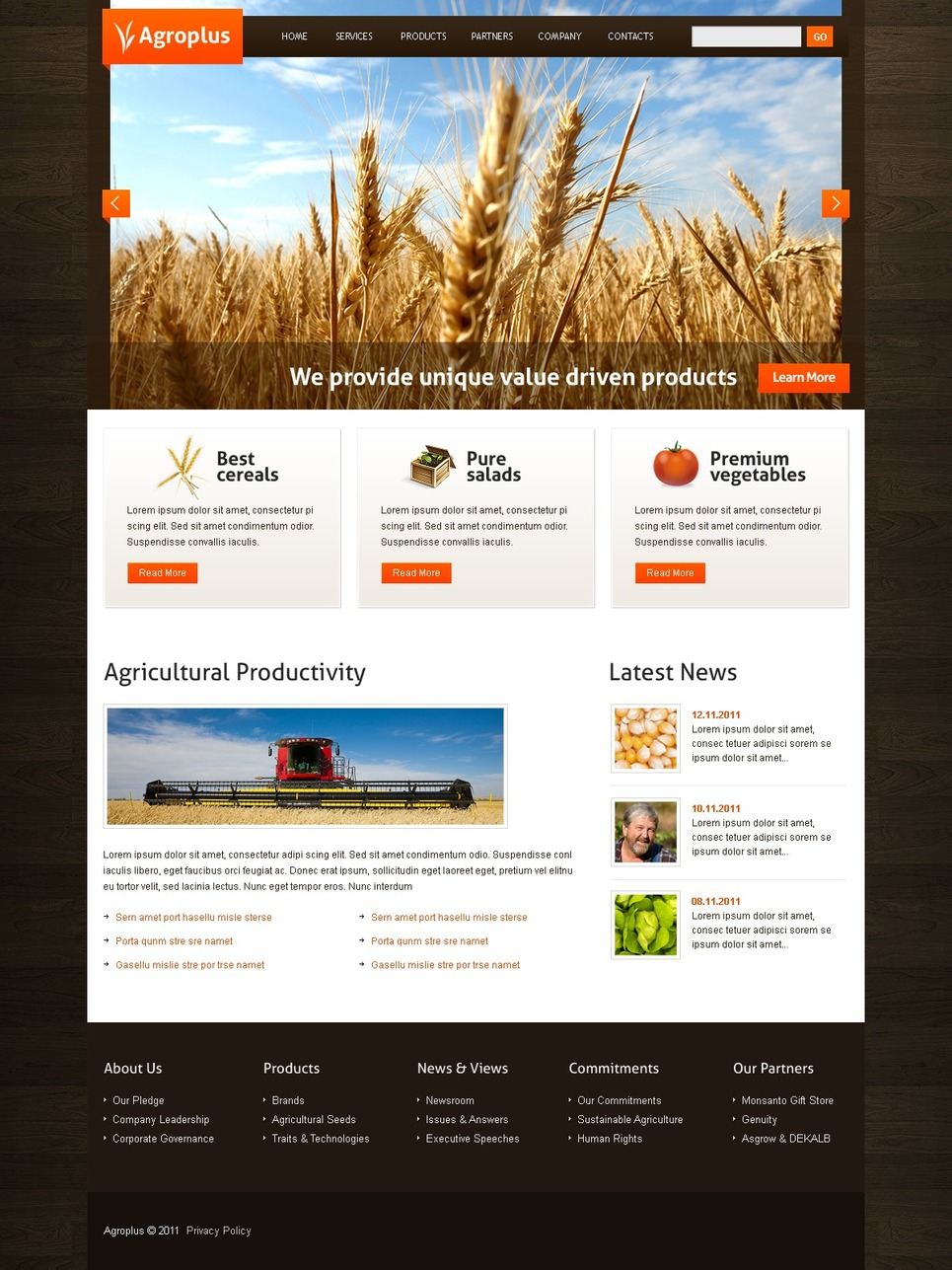 Agriculture WordPress Theme New Screenshots BIG