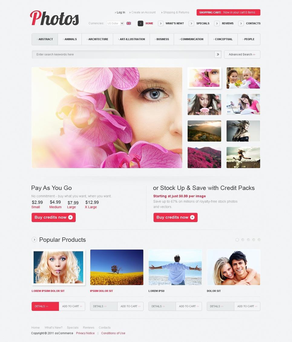 Stock Photo OsCommerce Template New Screenshots BIG