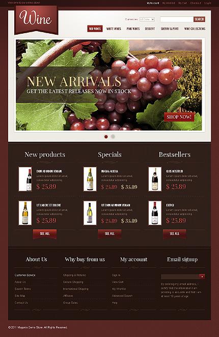 Wine - Materialistic New Arrivals InStock Magento Wine Shop Theme