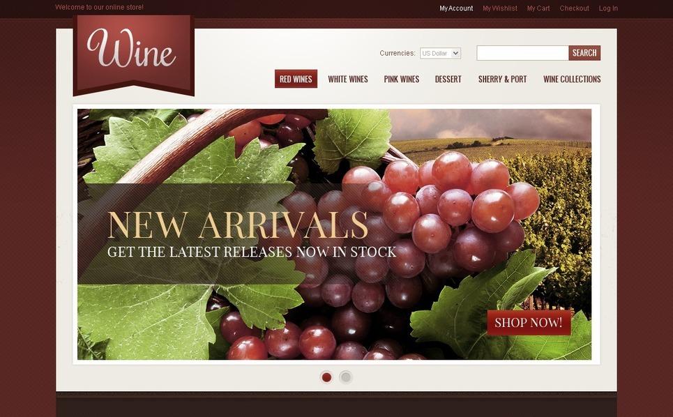 Wine Magento Theme New Screenshots BIG