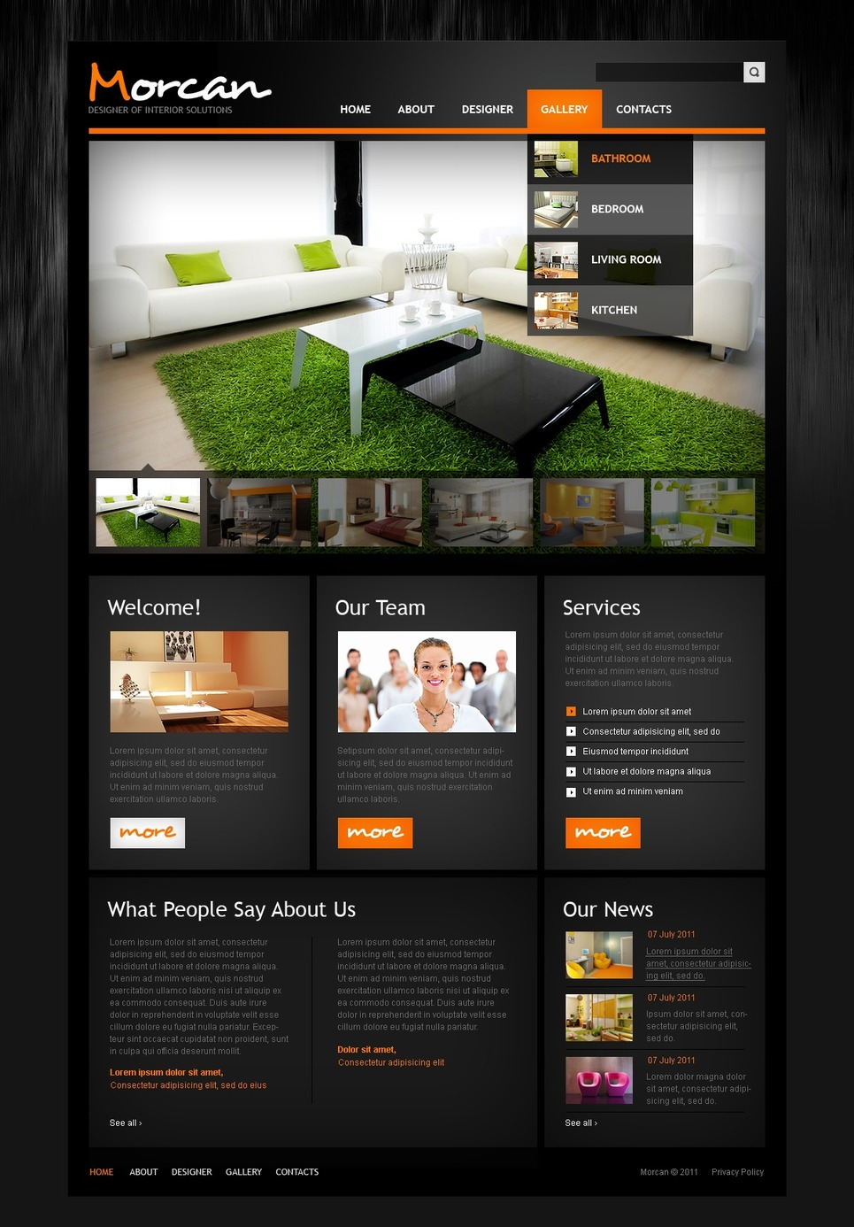 interior design website template 36424. Black Bedroom Furniture Sets. Home Design Ideas