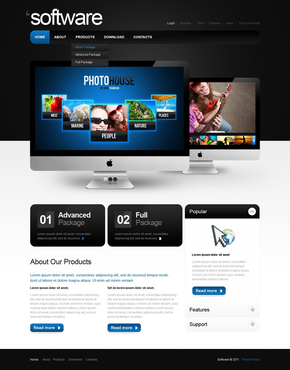 Software Company Website Template New Screenshots BIG