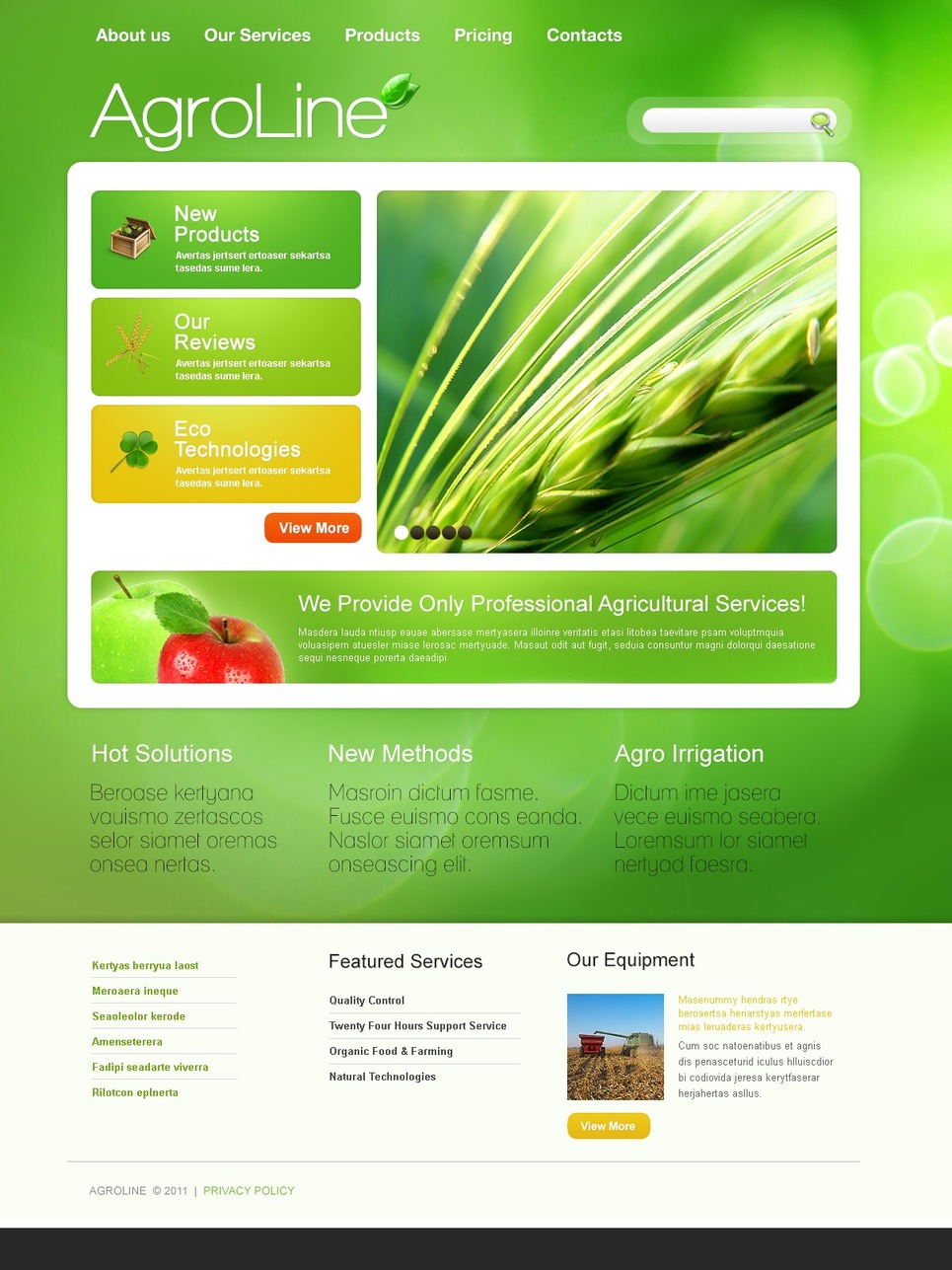 Agriculture Joomla Template New Screenshots BIG