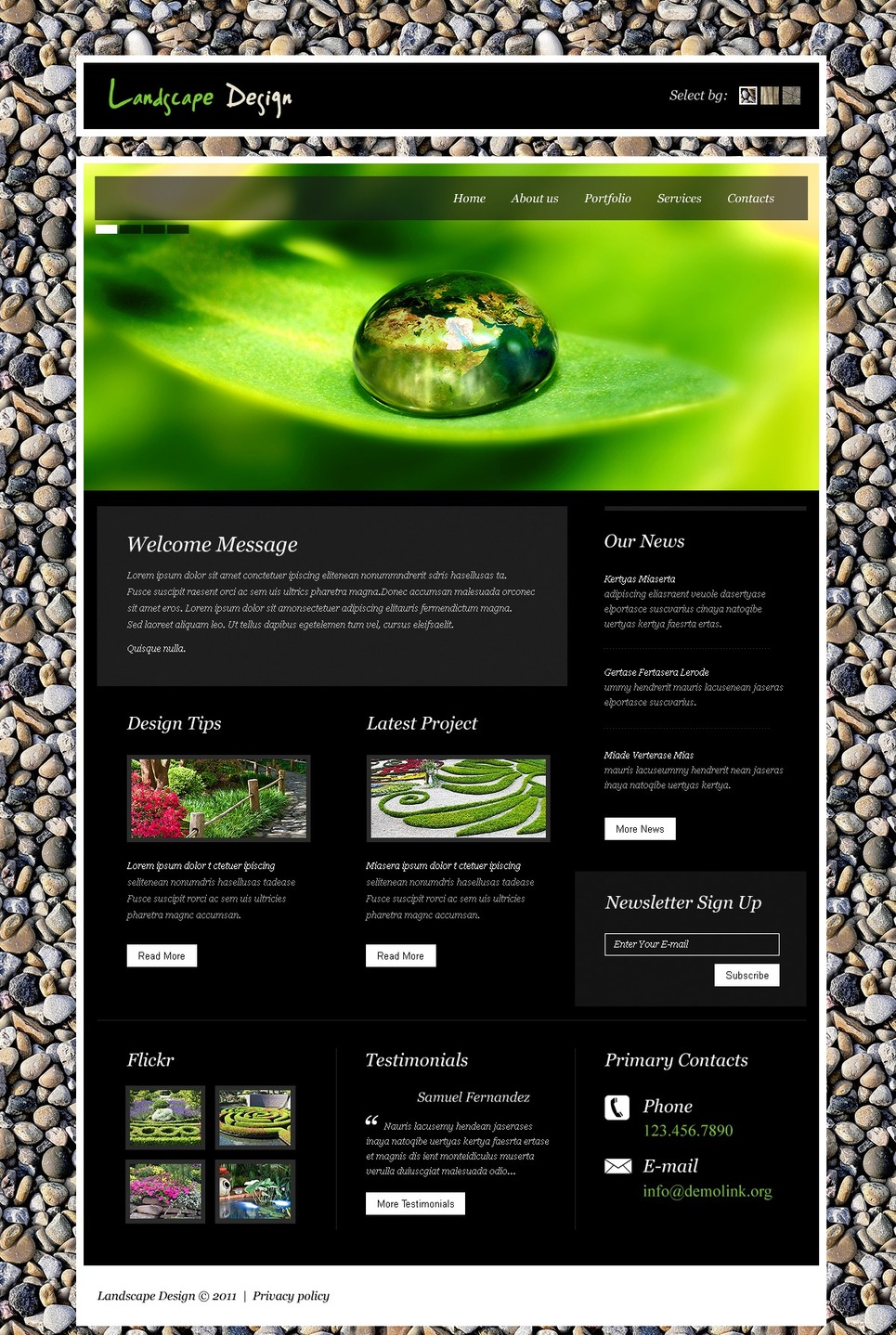 Landscape Design Turnkey Website 2.0 New Screenshots BIG
