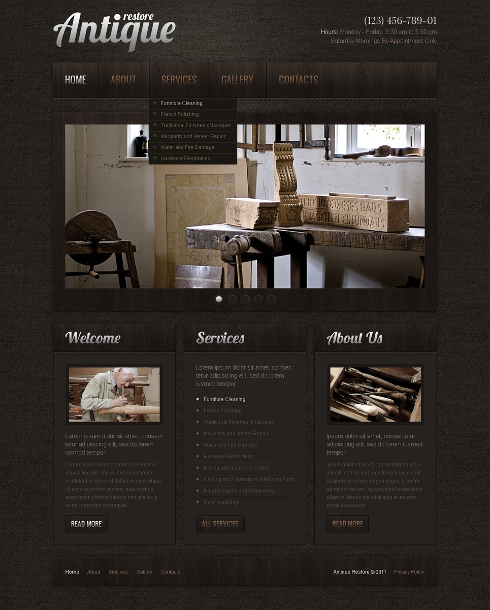 Antique Store Turnkey Website 2.0 New Screenshots BIG