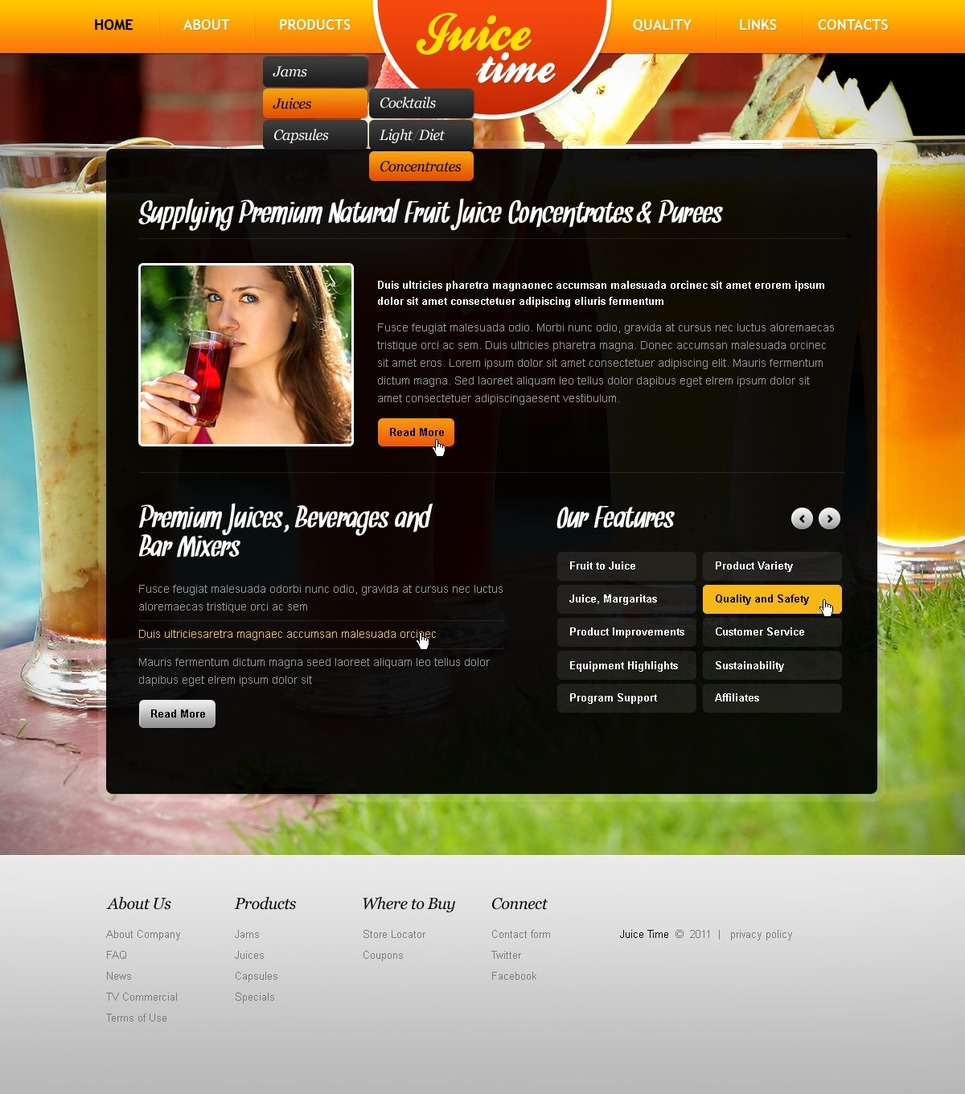 Food & Drink Turnkey Website 2.0 New Screenshots BIG