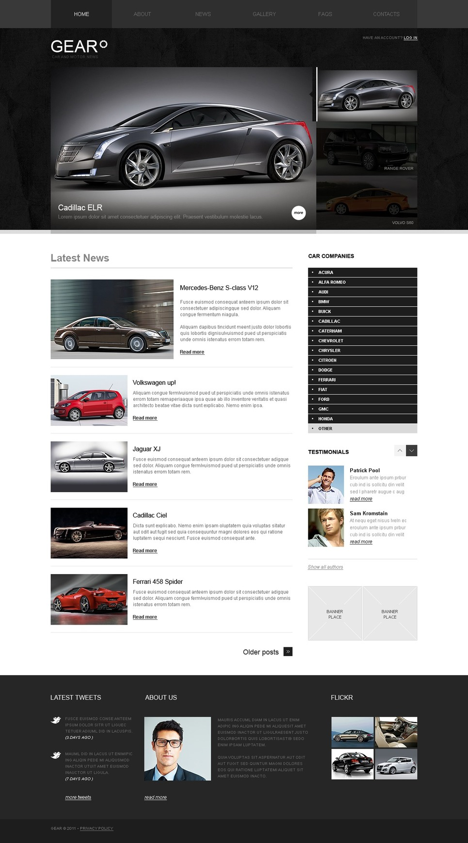 Car WordPress Theme New Screenshots BIG