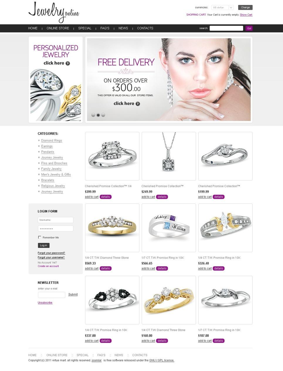 Jewelry Facebook Flash Template New Screenshots BIG
