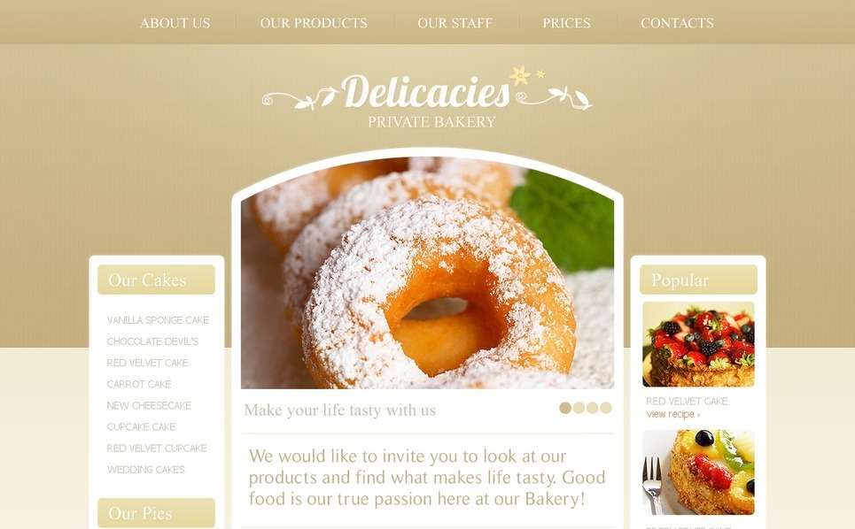 Bakery WordPress Theme New Screenshots BIG