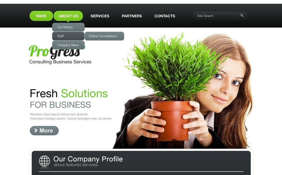 Consulting WordPress Theme New Screenshots BIG