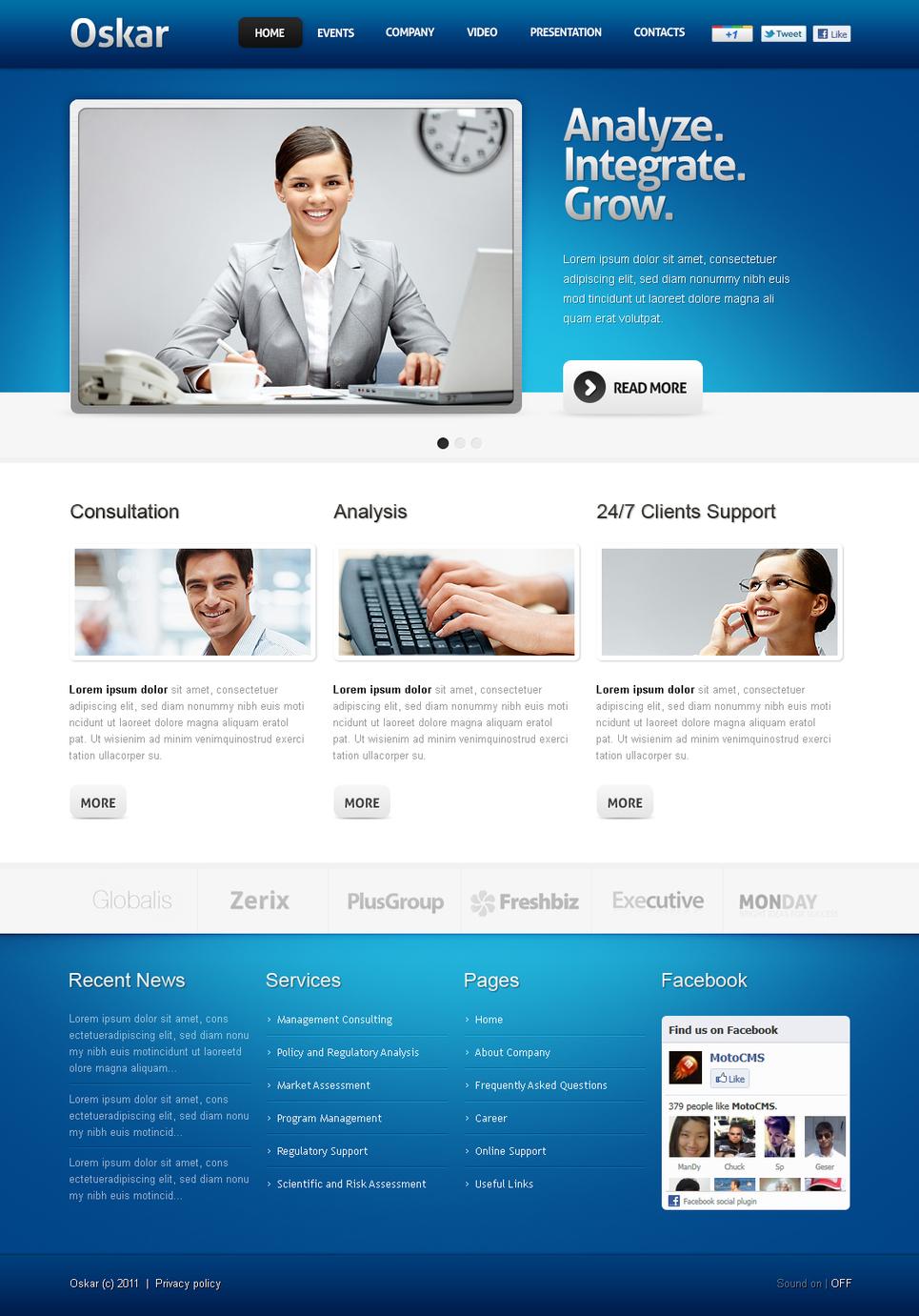 Корпоративный портал с админкой - image