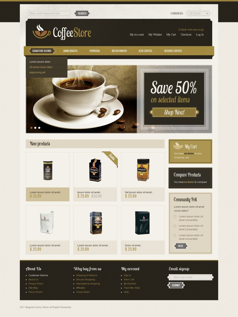 First-Class Coffee Shop Magento Theme