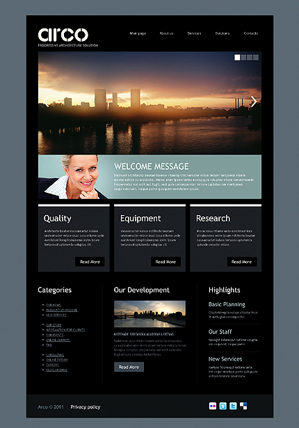 Js Animated Full Site Html5