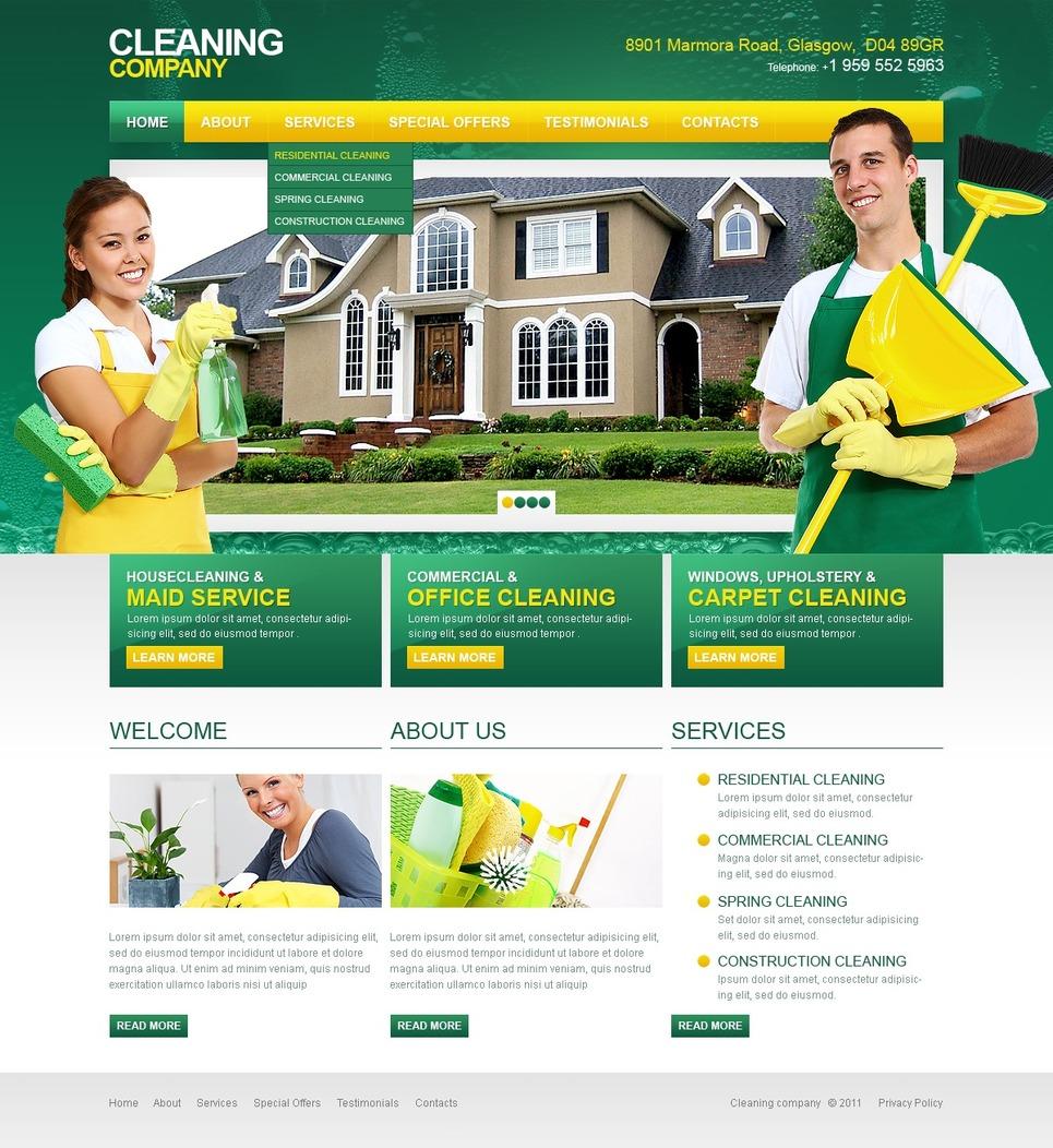 Cleaning Website Template New Screenshots BIG