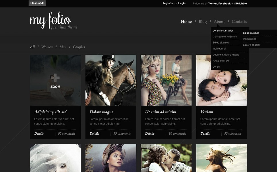 Photographer Portfolio WordPress Theme New Screenshots BIG