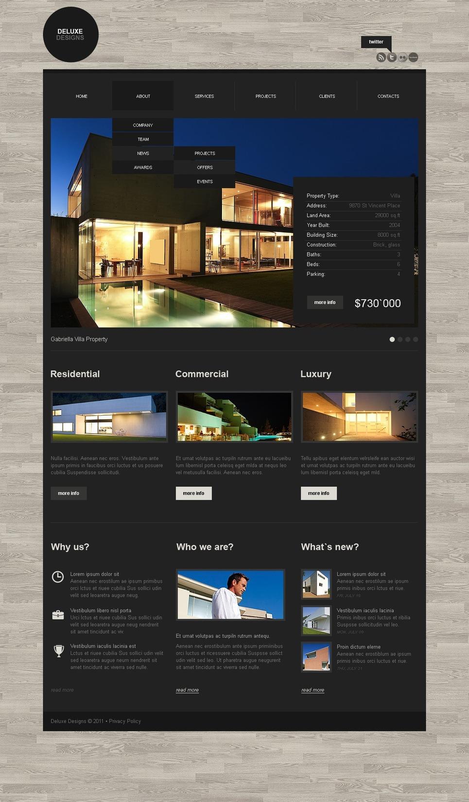 Mod le web 36597 pour site de design int rieur for Site de design interieur