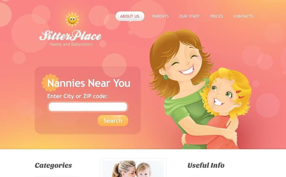 Babysitter Website Template New Screenshots BIG