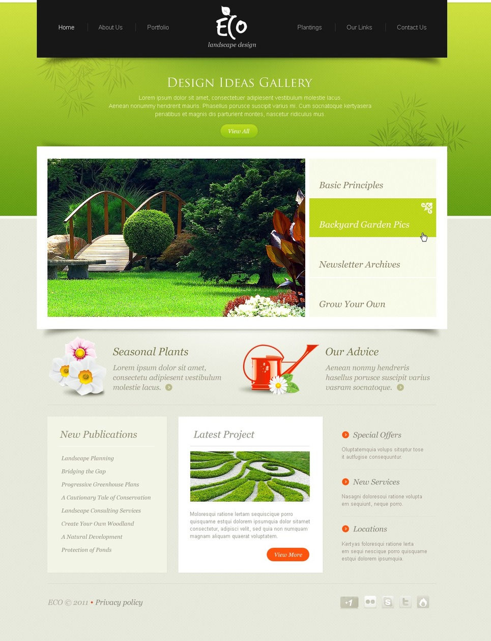 Garden Design Website Template Web Design Templates