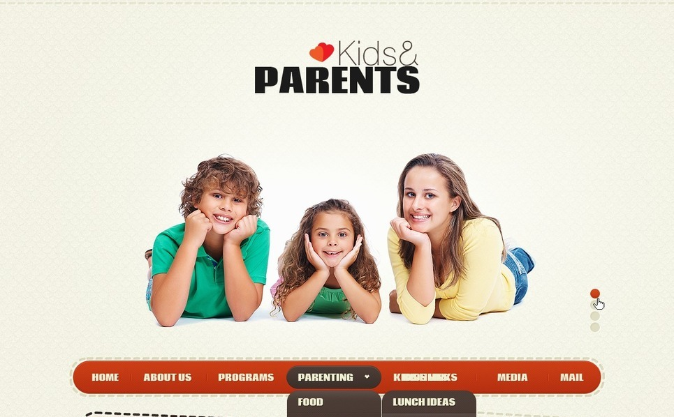 Family Website Template New Screenshots BIG