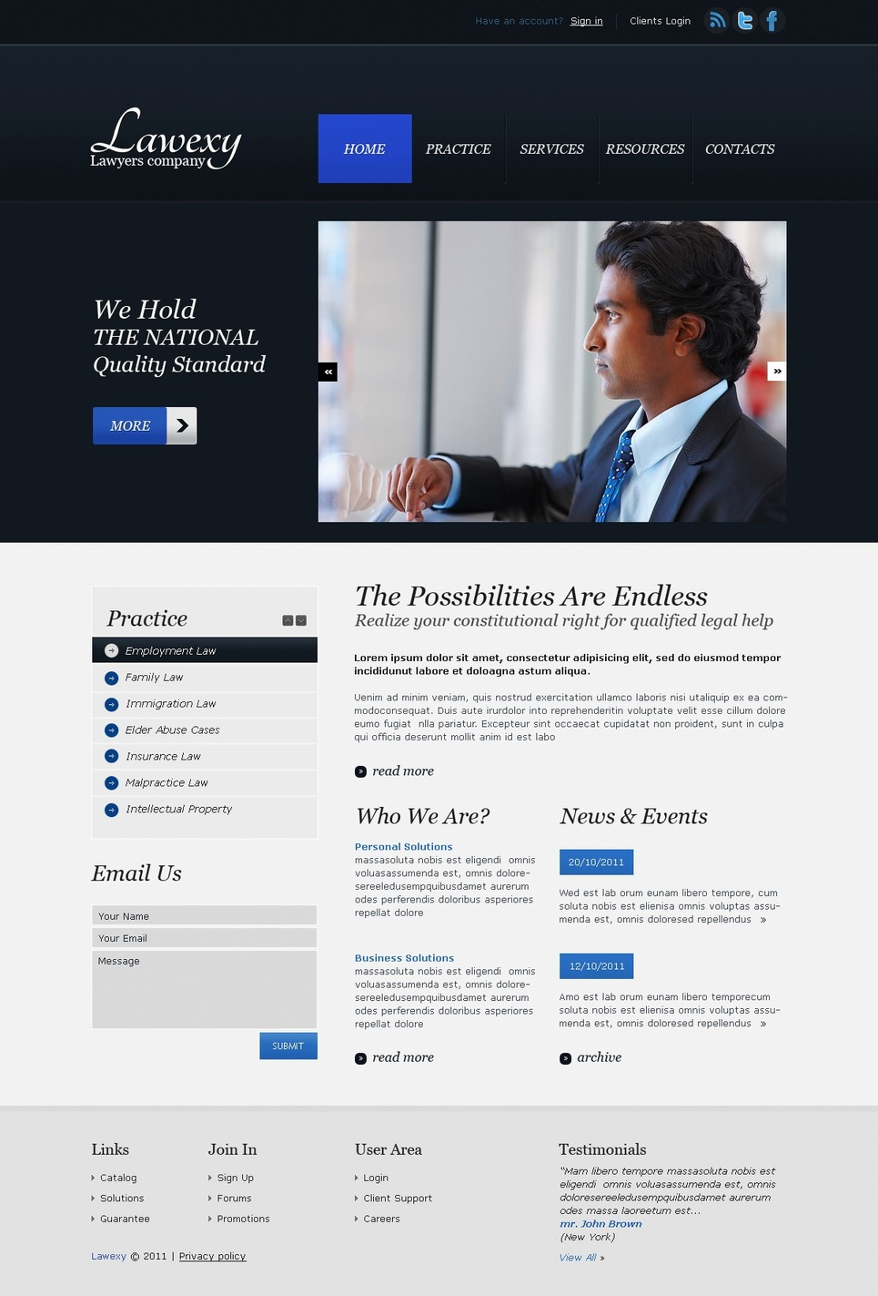 Lawyer Website Template New Screenshots BIG