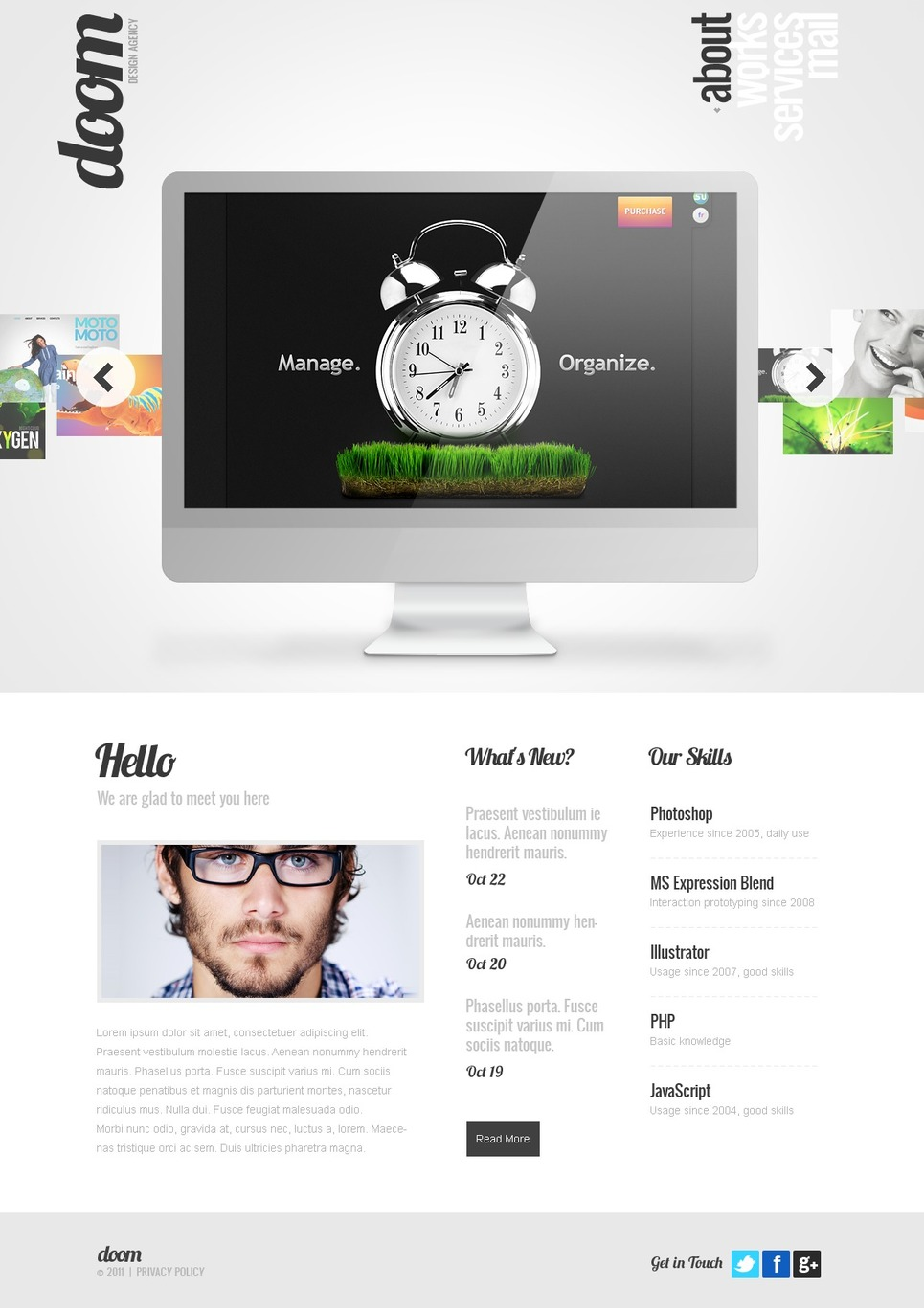 Web Design WordPress Theme New Screenshots BIG