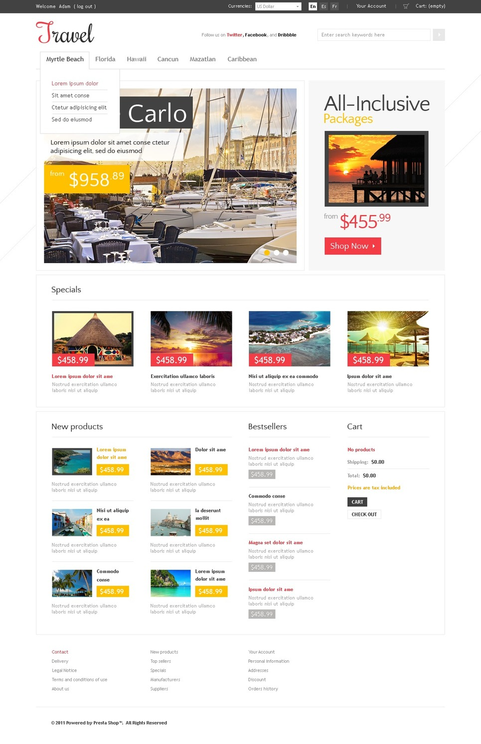 Remarkable Travel Mykonos Island PrestaShop Theme
