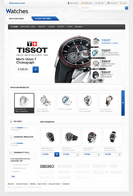 Watches - Tremendous Watches Magento Theme