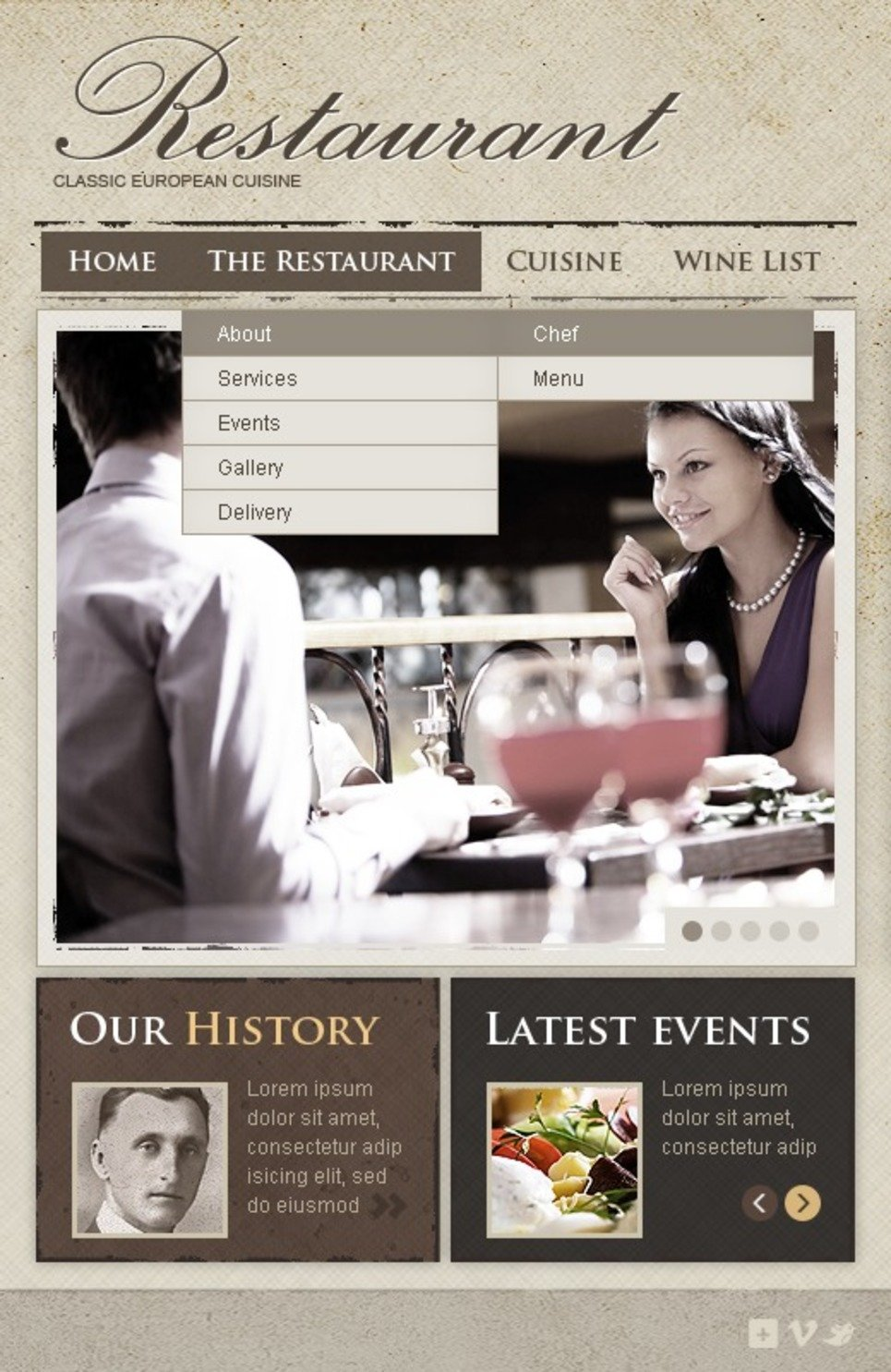 European Restaurant Facebook Template New Screenshots BIG