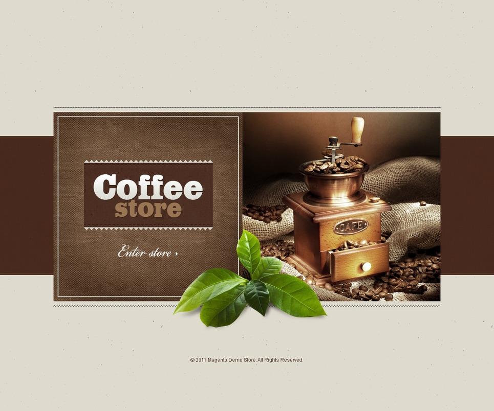 Coffee Shop Magento Theme New Screenshots BIG