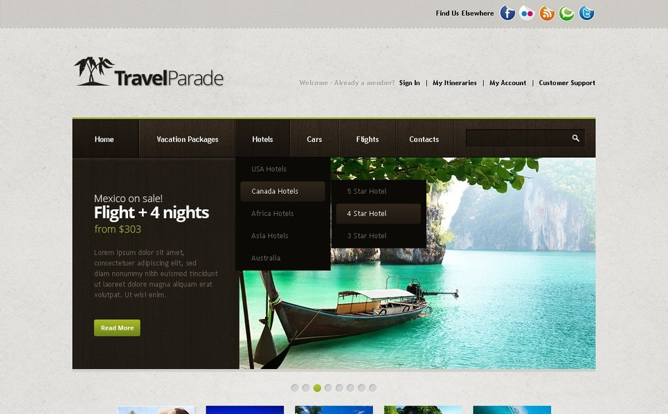 Travel Guide Website Template New Screenshots BIG