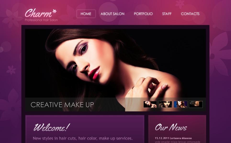 Hair Salon Website Template New Screenshots BIG