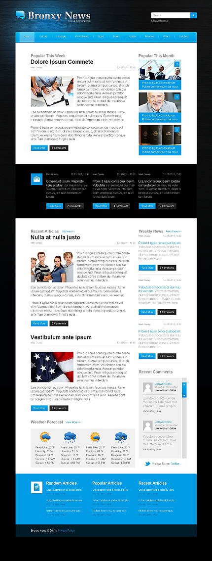 Css Template  Html5