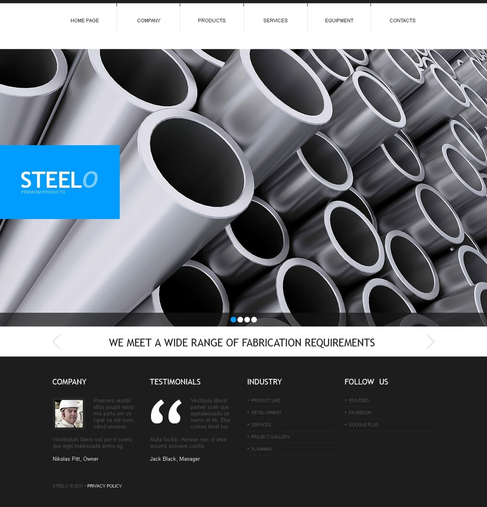 Steelworks Website Template New Screenshots BIG