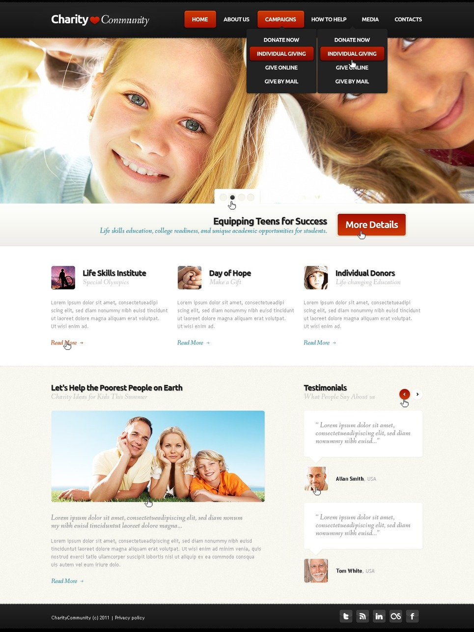 Child Charity Website Template New Screenshots BIG